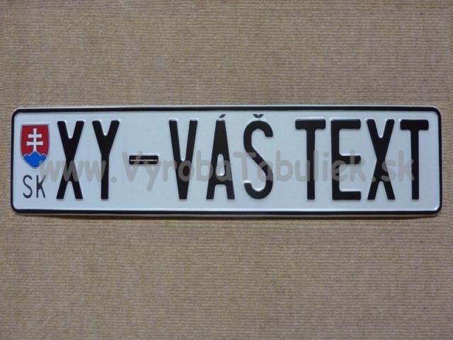 093.TYP: Najstaršia AUTO tabuľka + Váš text