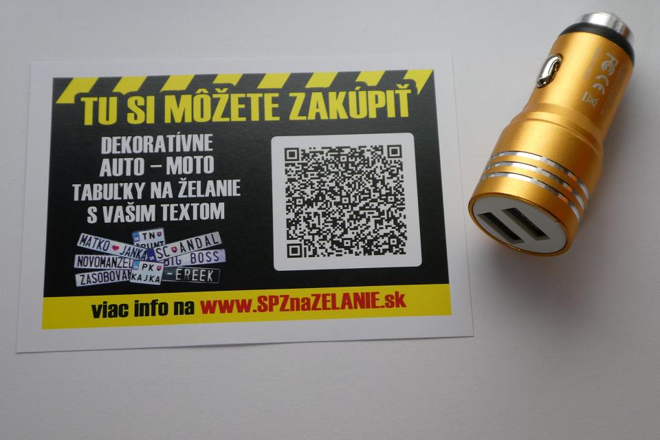AE03: auto nabíjačka 2x USB zlatá