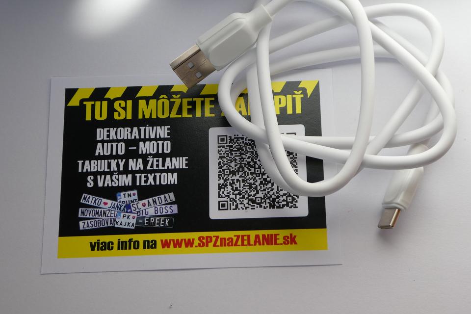 AE10: nabíjací kábel Android micro USB-C 1m biely