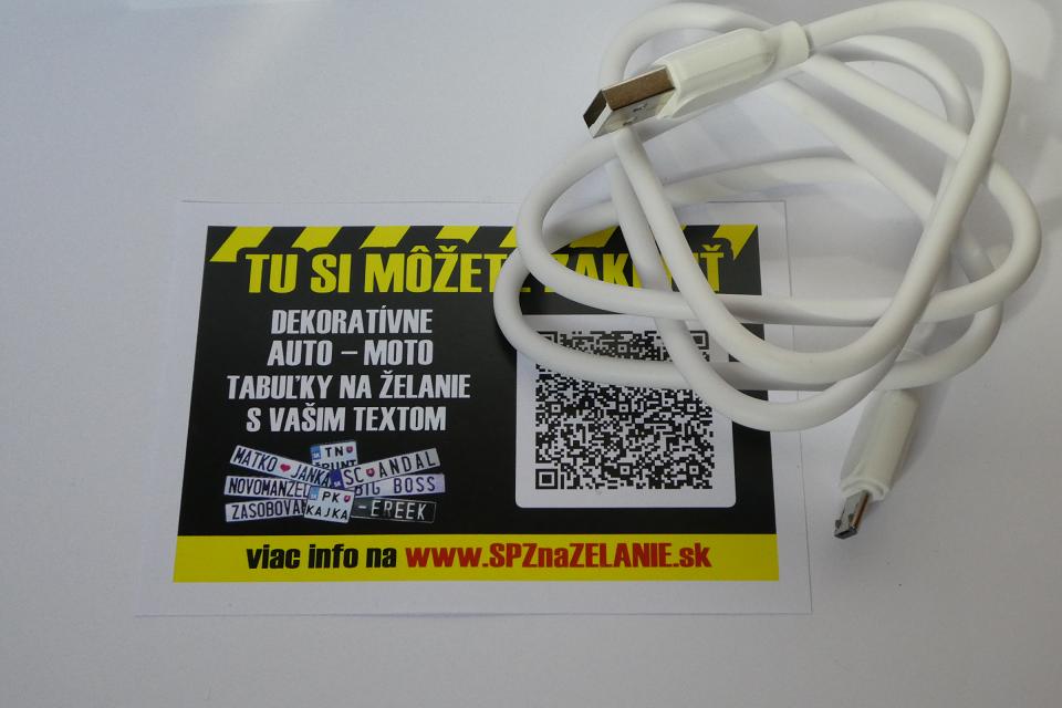 AE12: nabíjací kábel Android micro USB 1m biely