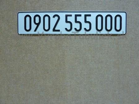 065.TYP: Česká AUTO tabuľka s Vašim textom
