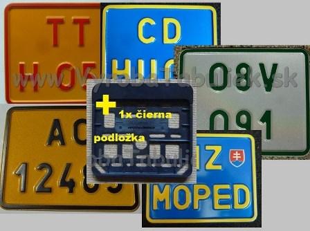 073.TYP: Farebná MOTO tabuľka voliteľné farby +PVC