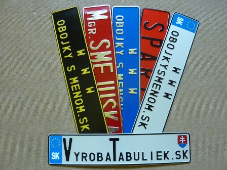 071.TYP: Farebná AUTO tabuľka voliteľné farby