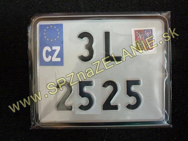 26.TYP: Česká MALÁ MOTO tabuľka s PVC podložkou