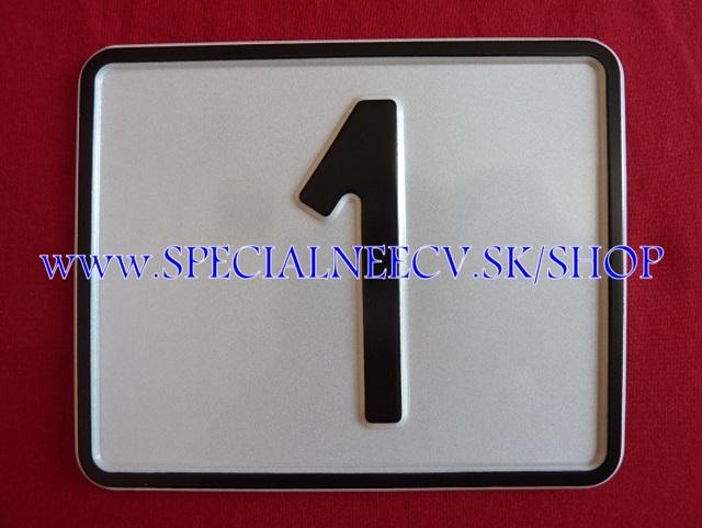 111.TYP: Štvorcová tabuľka 1 ciferná bez držiaku