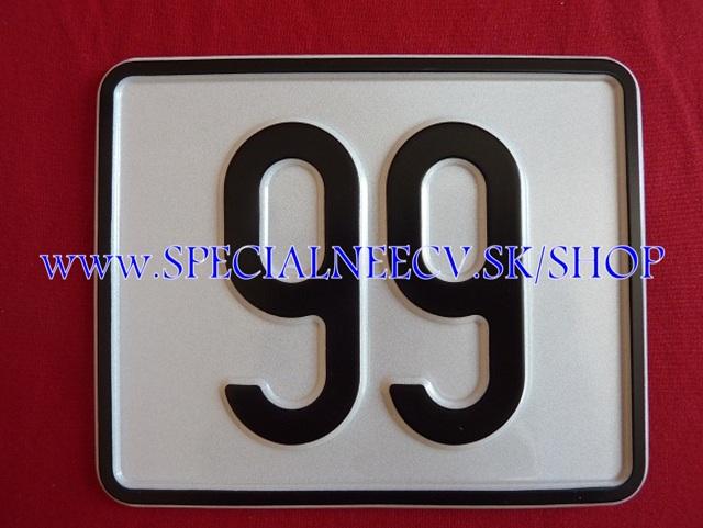 113.TYP: Štvorcová tabuľka 2 ciferná bez držiaku